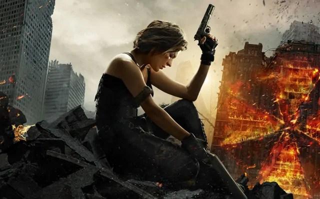 Il fuoco avvolge Milla Jovovich nel motion poster di Resident Evil: The Final Chapter