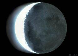 Earthshine on the Moon. Image credit: Drew J. Evans