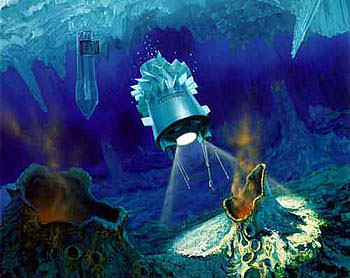 Artist illustration of a Europa probe. Image credit: NASA/JPL