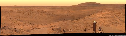 West Valley Panorma on Mars.  Image Credit:  NASA / JPL / Cornell / James Canvin