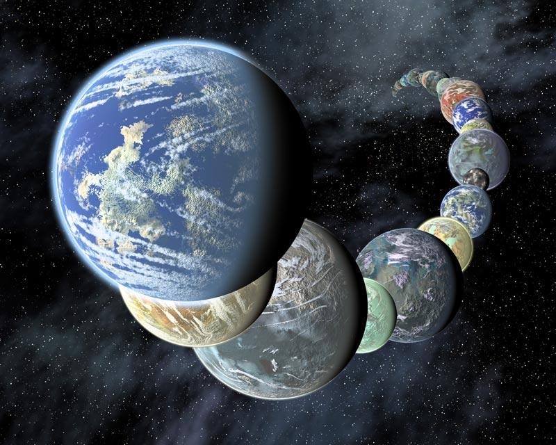 Earth-like planets.  Image Credit:  JPL