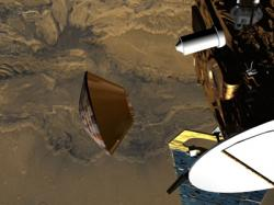 Moments from disaster… Beagle 2 separates from Mars Express, artist impression (credit: ESA)