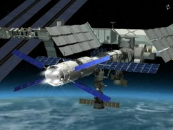 Jules Verne pushing the ISS along (ESA)
