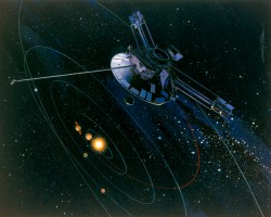 Artist impression of the Pioneer 10 probe (NASA)