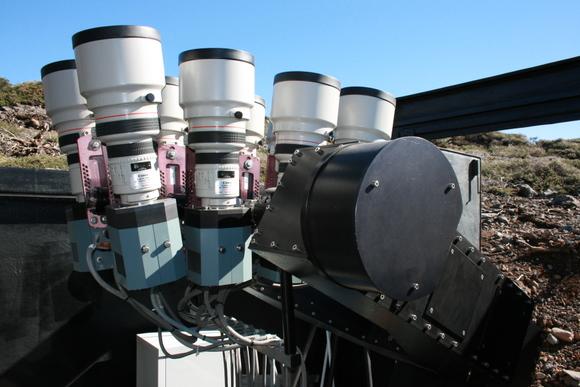 SuperWasp Cameras.  Image Credit:  SuperWASP project & David Anderson