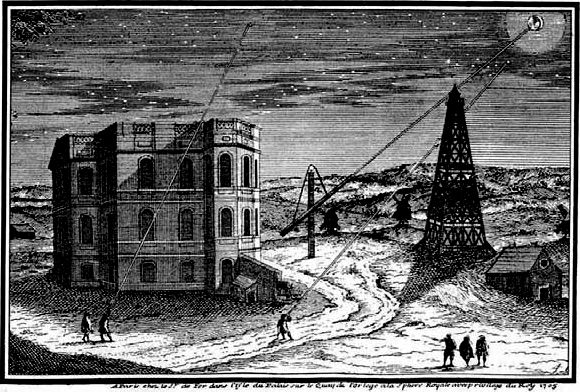 An engraving of the Paris Observatory during Cassini's time.  Credit: Pu