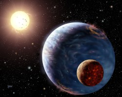 Artist impression of an extrasolar planet (STFC)