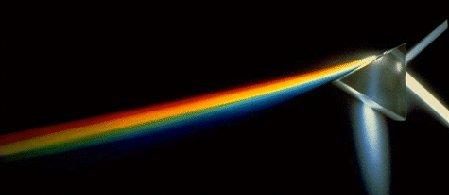 Sunlight passing through a prism. Image credit: NASA