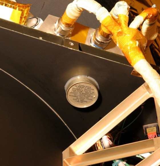 This object is a stowaway on board New Horizons.  Credit:  JHU/APL