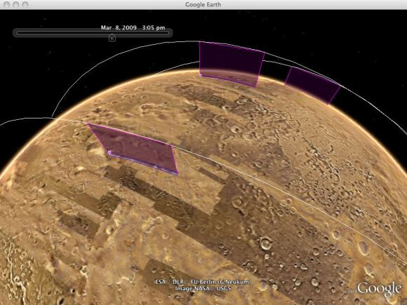 Mars in Google Earth.  Credit: Google