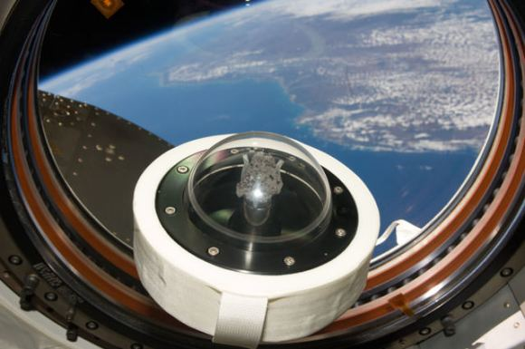 Moon rock on board the ISS. Credit: NASA