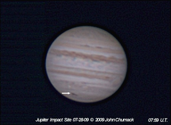 July 28, 2009 Jupiter Impact Site by John Chumack