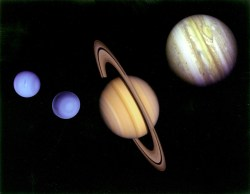 the four gas giants in our Solar