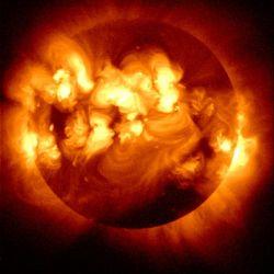 Solar flares on the Sun