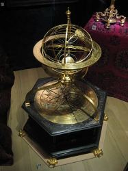 Armillary sphere with astron