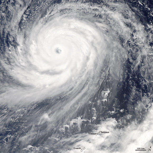 Choi Wan on Sept. 17, 2009. Credit: the Moderate Resolution Imaging Spectroradiometer (MODIS) on NASA's Aqua Satellite.
