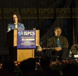 Erika Wagner at the International Symposium for Personal and Commercial Spaceflight. credit: ISPCS