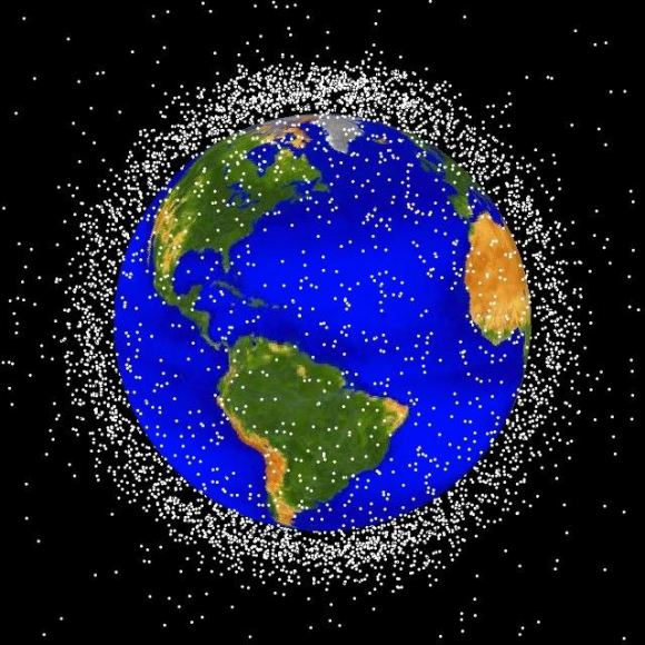 Estimated number of objects in low Earth orbit. Credit: NASA