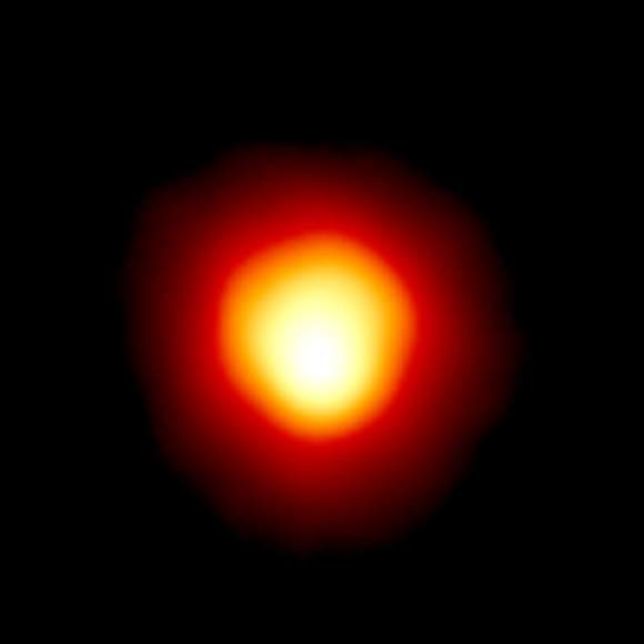 Betelgeuse was the first star directly imaged -- besides our own Sun, of course. Image obtained by the Hubble Space Telescope. Credit: Andrea Dupree (Harvard-Smithsonian CfA), Ronald Gilliland (STScI), NASA and ESA