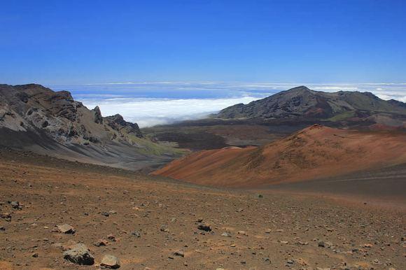 Sliding sands trail in the Haleakala Crater, Maui. Credit: Haleakala National Park