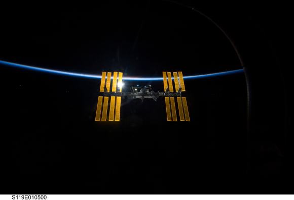 The International Space Station orbiting Earth. Credit: NASA