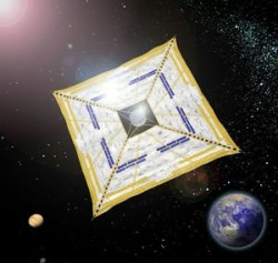 IKAROS - solar sail from Japan.  Image:  JAXA