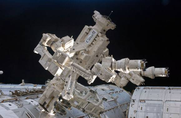 Dextre, the Canadian Space Agency's robotic handyman aboard the International Space Station. Credit: CSA/NASA