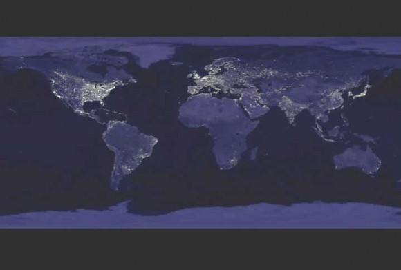 Earth at Night. Courtesy DMSP and NASA