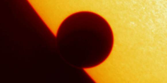 Transit of Venus by NASA's TRACE spacecraft  Image credit: NASA/LMSAL