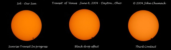 Venus Transit Sequence 2004 - Credt: John Chumack