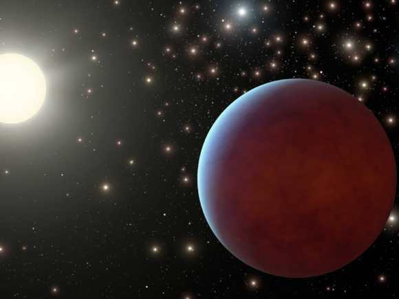 Artist's illustration of a planet within a cluster. Image credit: NASA/JPL-Caltech