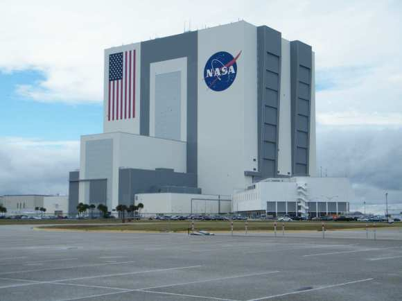 The Vehicle Assembly Building at KSC. Credit: Nancy Atkinson