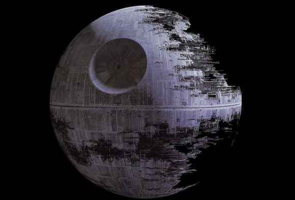 The Death Star in Star Wars. Credit: Lucasfilm.