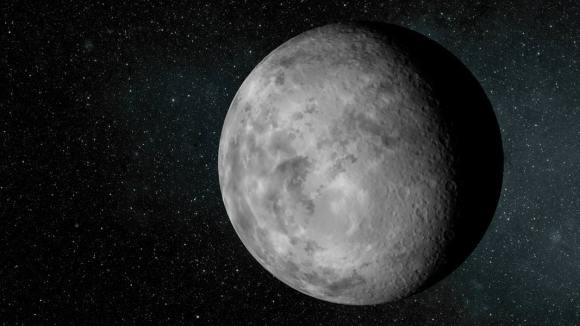 Artist's concept of Kepler-37b. The planet is slightly larger than our moon, measuring about one-third the size of Earth. Credit:     NASA/Ames/JPL-Caltech