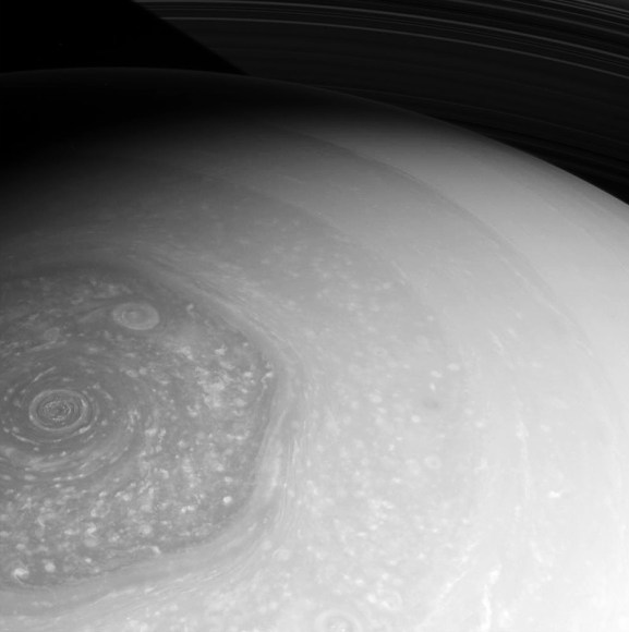 Raw Cassini image captured on 26 Feb. 2013 (NASA/JPL/SSI)