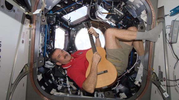 Chris Hadfield in the Cupola of the ISS. Credit: NASA