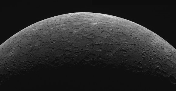 A limb mosiac of the planet Mercury as seen from MESSENGER's Wide Angle Camera & Dual Imaging System. (Credit: NASA/Johns Hopkins University/Applied Physics Laboratory.Carnegie Institution of Washington).