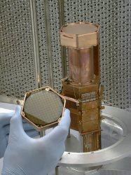 A stack of crystal germanium CDMS detectors (Fermilab)