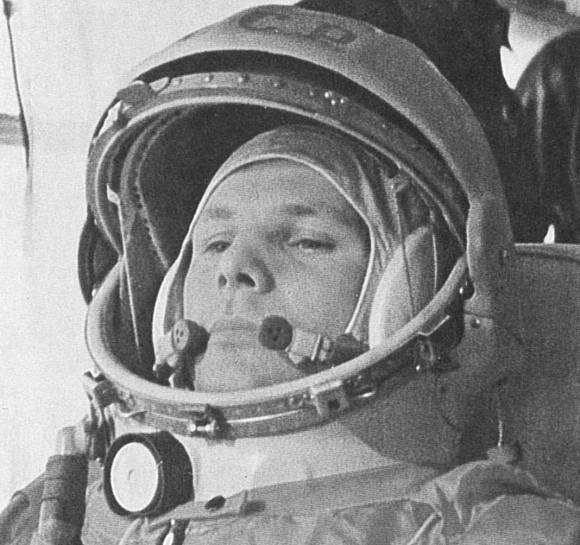 Yuri Gagarin on the way to his historic Vostok launch on April 12, 1961. (NASA Images)