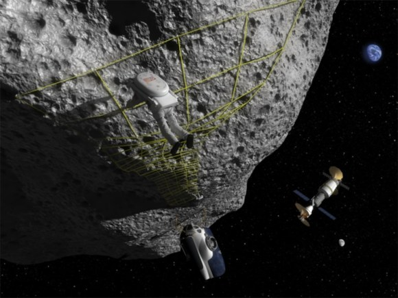 Landing on asteroids will be a risky endeavour, perhaps aggravated by changes in asteroid dust when it's touched. Credit: NASA Near Earth Object Program