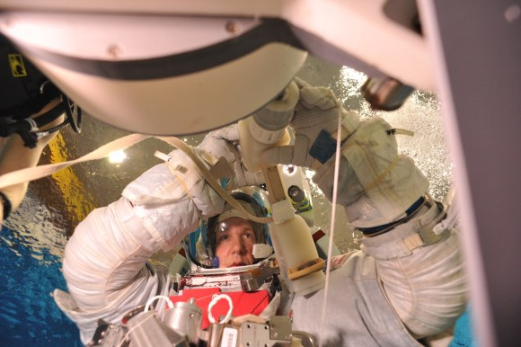 Safety in spaceflight comes from working the procedures in training so often that responses become automatic, says German astronaut Alexander Gerst, shown here during spacewalk training. Credit: NASA