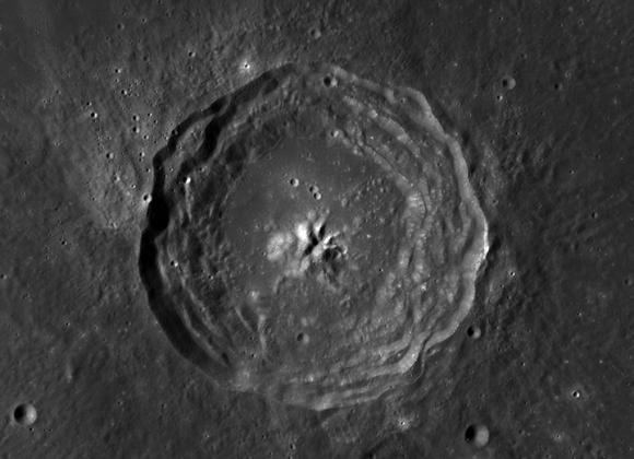 LRO image of the 60-km Bullialdus crater (NASA/GSFC/Arizona State University)