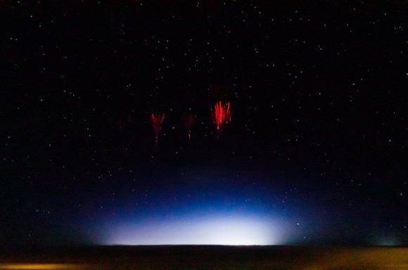 Red sprite lighting, taken on August 12, 2013 over Red Willow County, Nebraska, US as part of