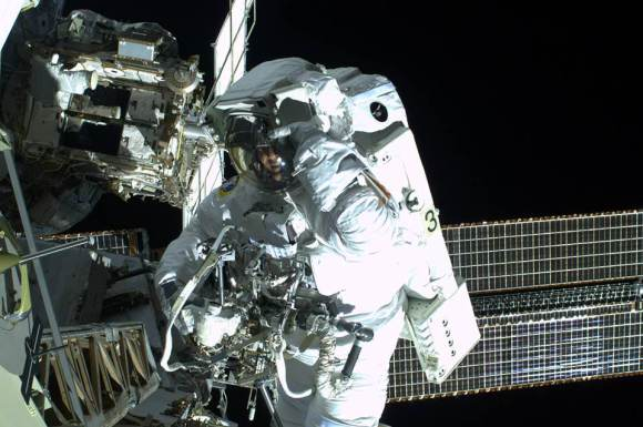 ESA astronaut Luca Parmitano on EVA