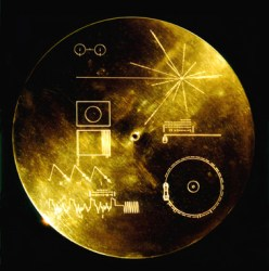 "The famous ""Golden Record"" carried aboard both Voyager 1 and 2 contains images, sounds and greetings from Earth. (NASA)"