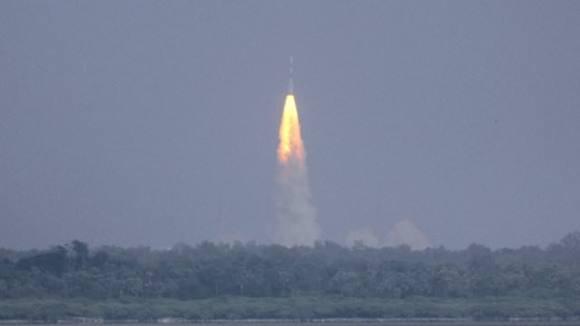 Launch of India's Mars Orbiter Mission (MOM) on Nov. 5, 2013 from Sriharikota, India. Credit: ISRO