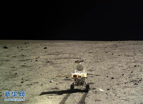 China's 1st Moon rover 'Yutu' embarks on thrilling adventure marking humanity's first lunar surface visit in nearly four decades. Yutu portrait taken by the Chang'e-3 lander.  Credit: CNSA/CCTV