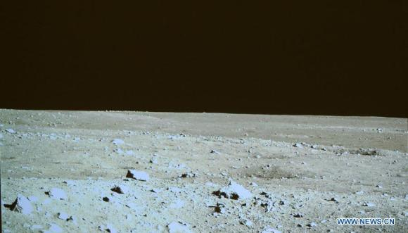 Lunar landscape photographed by the Chang'e 3 lander on Dec. 15, 2013. Credit: CCTV