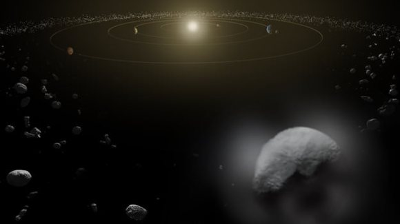 Artist's impression of Ceres. Credit: ESA.