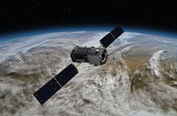 Artist's conception of NASA's Orbiting Carbon Observatory, which will examine carbon dioxide in the atmosphere (and its effect on climate change) after an expected launch in July 2014. Credit: NASA